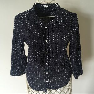 J.Crew Swiss Dot Button Down Shirt -4